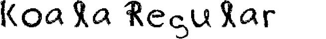 Preview image for koala Regular Font