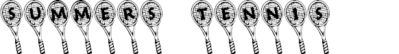 Preview image for Summer's Tennis Font