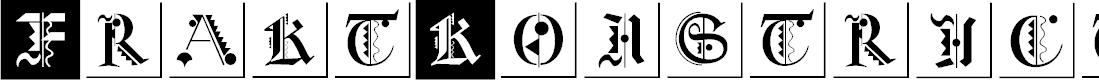 Preview image for FraktKonstruct Font