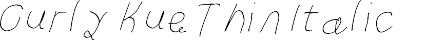 Preview image for Curly Kue Thin Italic