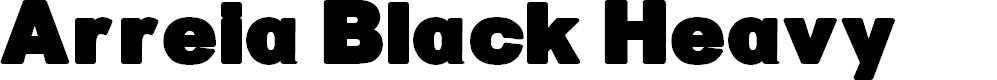 Preview image for Arreia Black Heavy Font