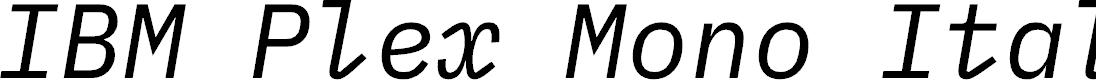 Preview image for IBM Plex Mono Italic