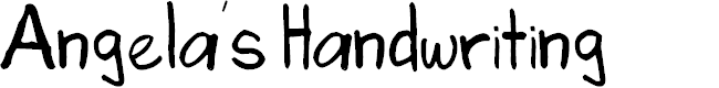 Preview image for Angela's Handwriting Font