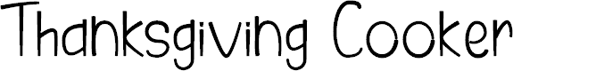 Preview image for Thanksgiving Cooker Font