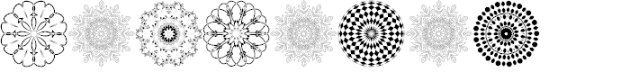 Preview image for Mandalas Font
