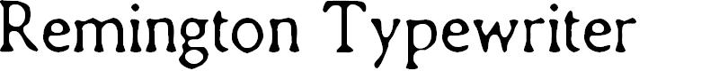 Preview image for CF Remington Typewriter Regular Font