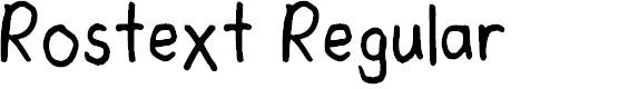 Preview image for Rostext Regular Font
