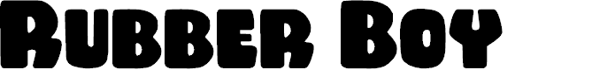 Preview image for Rubber Boy Regular Font