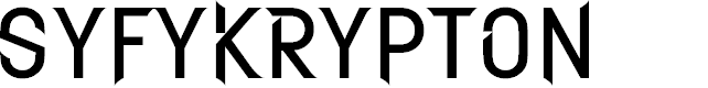 Preview image for SYFYKrypton Font