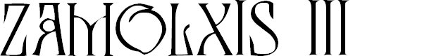 Preview image for Zamolxis III Font