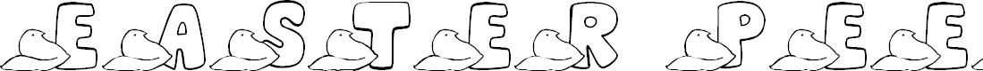 Preview image for JLR Easter Peeps Font