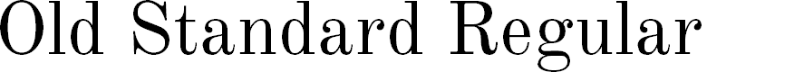 Preview image for Old Standard Regular Font