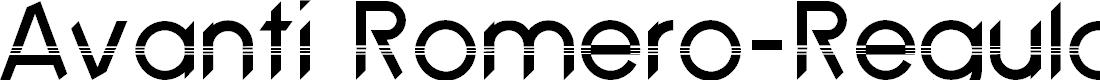 Preview image for Avanti Romero-Regular Font