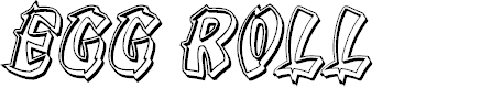 Preview image for Egg Roll Engraved Italic