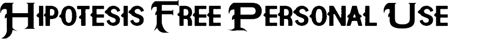 Preview image for Hipotesis Free Personal Use  Font