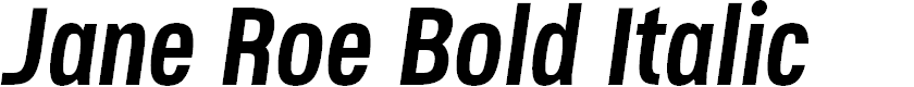 Preview image for Jane Roe Bold Italic