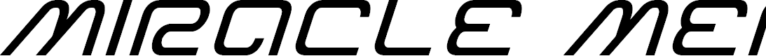 Preview image for Miracle Mercury Expanded Italic