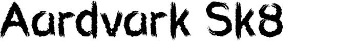 Preview image for Aardvark Sk8 Font