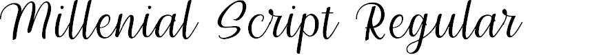 Preview image for Millenial Script Regular Font
