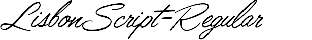 Preview image for LisbonScript-Regular Font