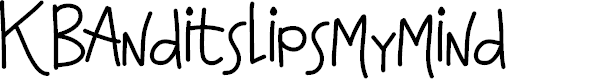 Preview image for KBAnditslipsmymind Font