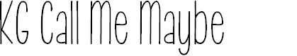 Preview image for KG Call Me Maybe Font