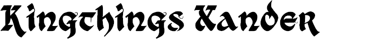 Preview image for Kingthings Xander Font