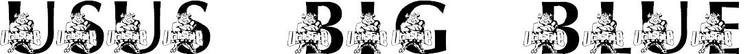 Preview image for LMS USU's Big Blue Font