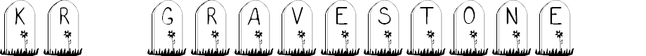 Preview image for KR Gravestone Font