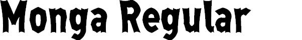 Preview image for Monga Regular Font