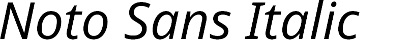Preview image for Noto Sans Italic