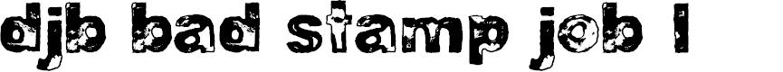 Preview image for DJB BAD STAMP JOB 1 Font