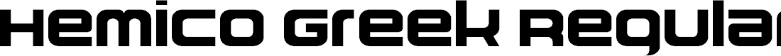 Preview image for Hemico Greek Regular Font