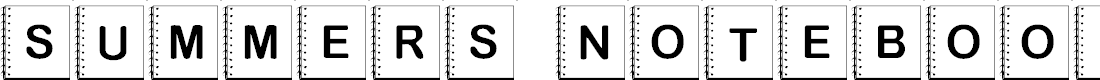 Preview image for Summers Notebook Font