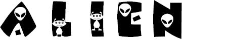 Preview image for KR Alien Font