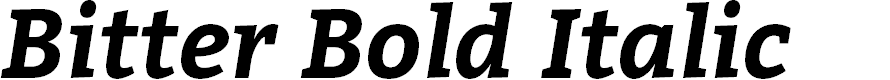 Preview image for Bitter Bold Italic