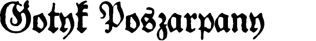Preview image for Gotyk Poszarpany Font