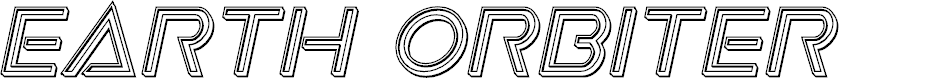 Preview image for Earth Orbiter Engraved Italic