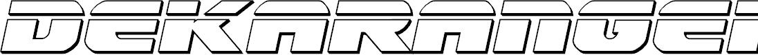 Preview image for Dekaranger Bullet Italic