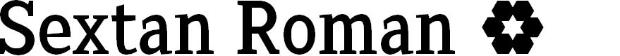 Preview image for Sextan Roman Font