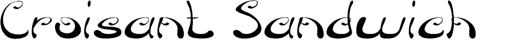 Preview image for Croisant Sandwich Font
