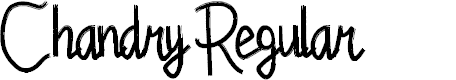 Preview image for Chandry Regular Font
