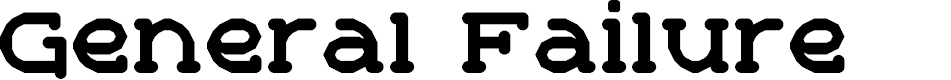 Preview image for General Failure Regular Font