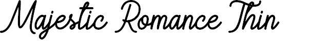 Preview image for Majestic Romance Thin Font
