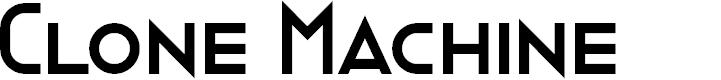 Preview image for Clone Machine Font