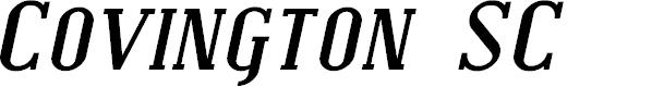 Preview image for Covington SC Exp Bold Italic