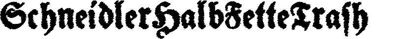 Preview image for SchneidlerHalbFetteTrash Font