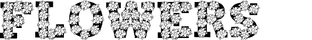 Preview image for Flowers Font