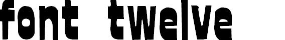 Preview image for font twelve Font