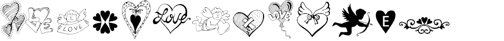 Preview image for HAPPY VALENTINE'S DAY Font